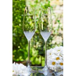 Milano - svatební sklenice s gravírovaním - šampaňské