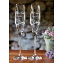 Desire – svatební sklenice s gravírováním - šampaňské