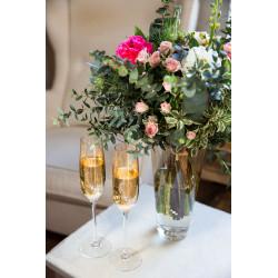 Gold Romance - svatební skleničky s gravírováním - šampaňské