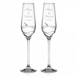 Venezia sklenice na šampaňské včetně gravírování Italiano