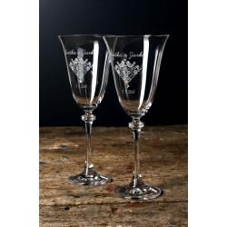 Folklór víno - gravírované sklenice na víno 2ks
