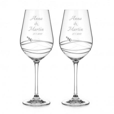 Venezia svatební sklenice na červené víno