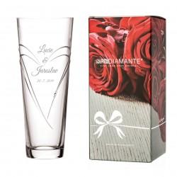 Hearts kónická váza 30 cm - včetně gravírování Great Vibes