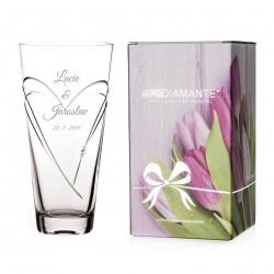 Hearts kónická váza 25 cm - včetně gravírování Great Vibes